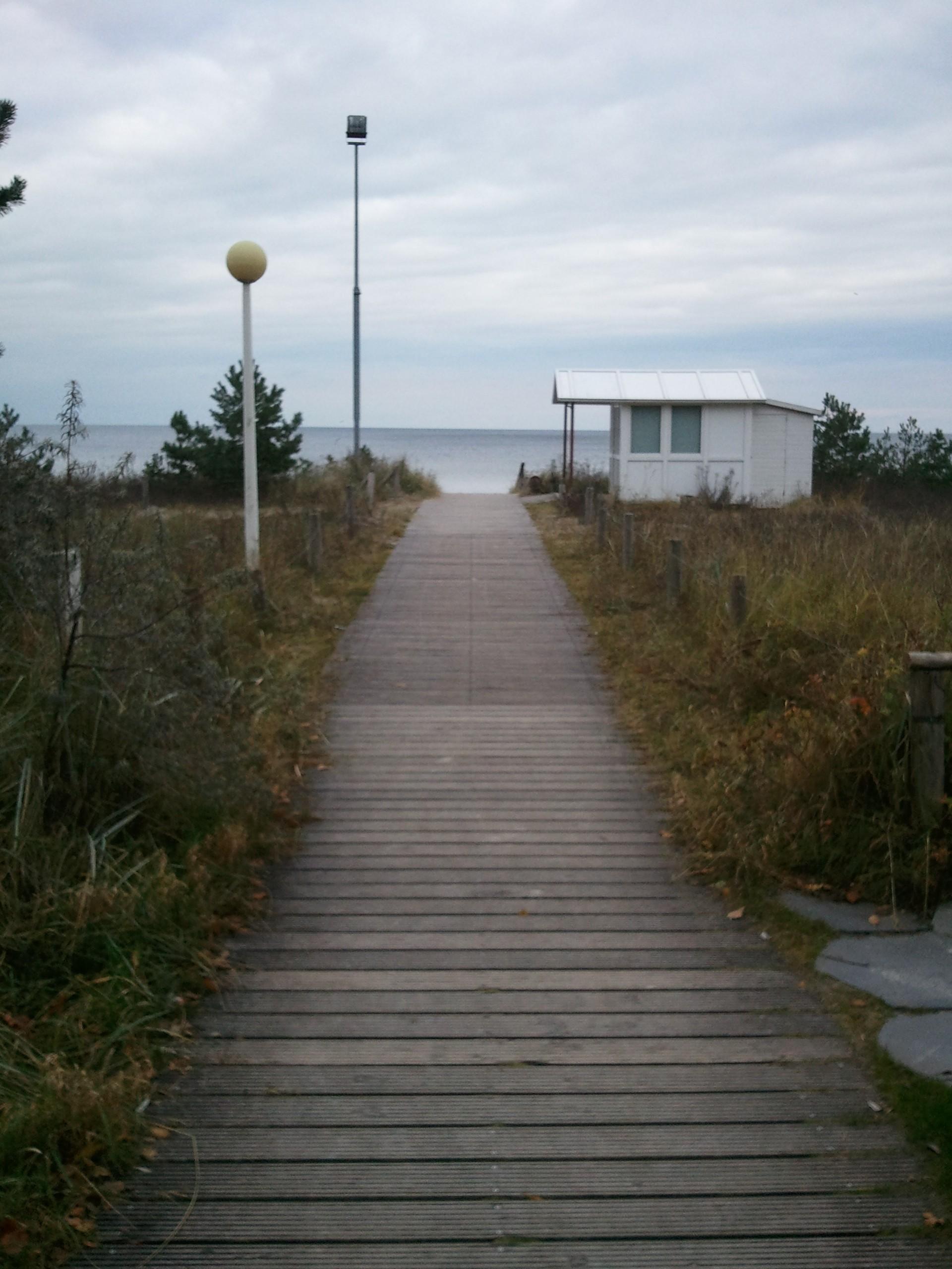 Dielenweg durch Dünen Richtung See