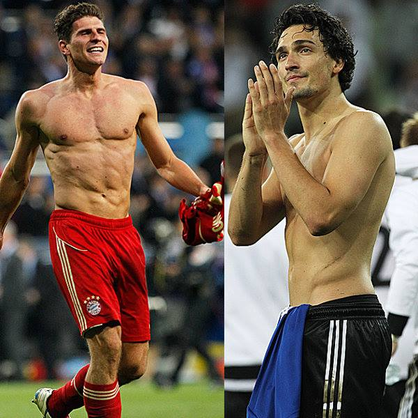 Beitragsbild: Fußball kann so sexy sein; Mario Gomez und Mats Hummels